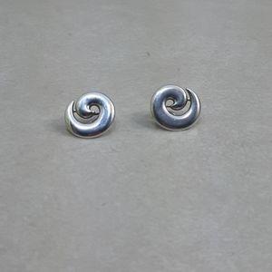 earrings james avery sterling  silver swirl